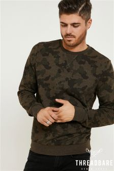 Threadbare Camo Crew Sweatshirt