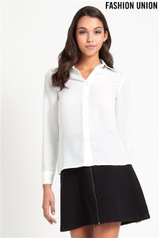 Fashion Union Petite Embroidered Shirt