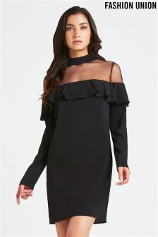 Fashion Union Ruffle Trim Dress