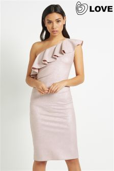 Love Lurex Dress With Frill