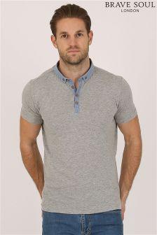 Bravesoul Contrast Polo Shirt