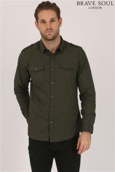 Bravesoul Military Style Shirt