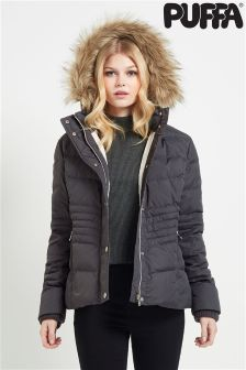 Puffa Chevron Quilted Jacket