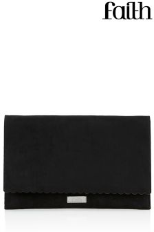 Faith Scalloped Edge Clutch Bag