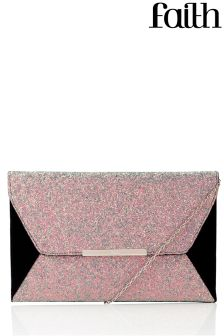 Faith Glitter Clutch Bag