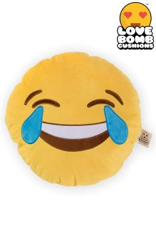 Love Bomb Emoji Crying With Laughter Cushion