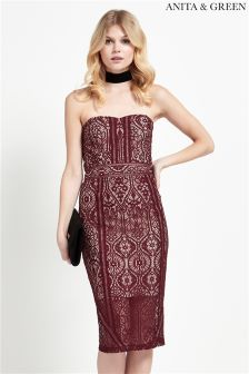 Anita & Green 2 In 1 Lace Bandeau Dress