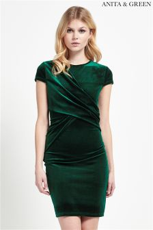 Anita & Green Velvet Bodycon Dress