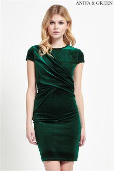 Anita & Green Velvet Bodycon Dress