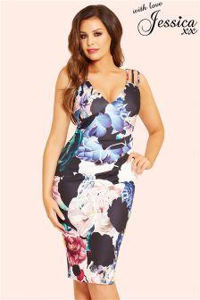 Jessica Wright Floral Pleated Midi Dress