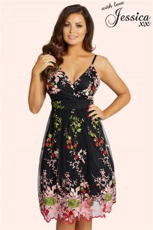 Jessica Wright Embroidered Prom Dress