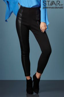 Star By Julien Macdonald PU Zip Ankle Leggings