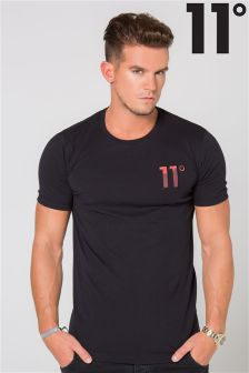 11 Degrees Logo Red Tee