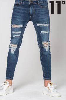 11 Degrees Distressed Skinny Jeans