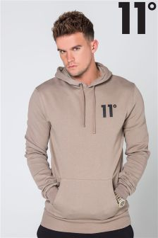 11 Degrees Grey Polyurethanellover Hoody