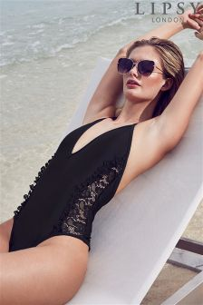 Lipsy Lace Side Monokini