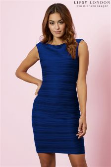 Lipsy Ripple Detail Bodycon Dress