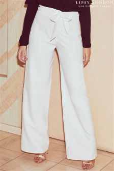 Lipsy Love Michelle Keegan High Waist Wide Leg Trousers
