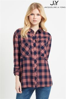 JDY Long Check Shirt