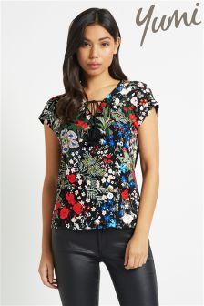 Yumi Floral Tassel Top