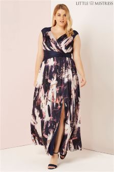 Little Mistress Curve Printed Maxi Dress