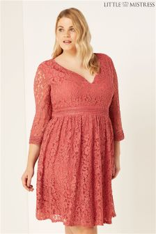 Little Mistress Curve Lace Midi Dress