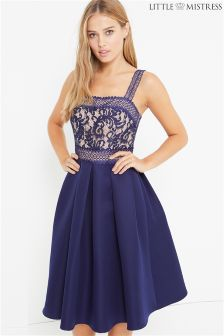 Little Mistress Lace Apron Dress