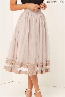 Little Mistress High Waisted Midi Skirt