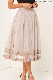 Little Mistress High Waisted Midi Skirt