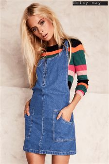 Noisy May Dungaree Dress