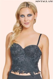Sistaglam Crotchet Lace Wired Bralet