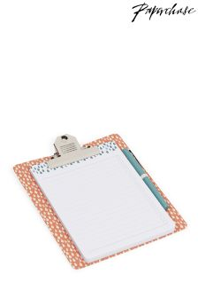 Paperchase Raindrops Magnetic Clipboard, Pad And Pen