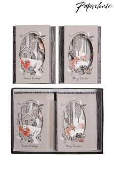Paperchase Woodland Theatre Christmas Cards - Box Of 6