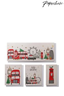 Paperchase London Christmas Cards - Box Of 20