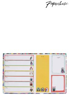 Paperchase Owls Desk Pad With Sticky Notes