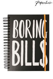 Paperchase Bill Organiser Notebook