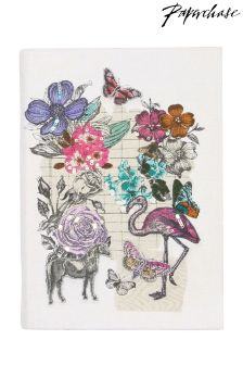 Paperchase Vintage Flamingo Hand-Stitched Notebook