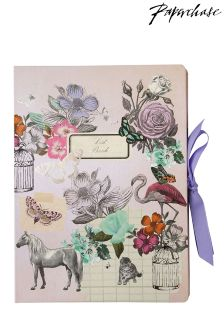 Paperchase Vintage Flamingo Large Multi List Book