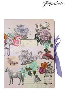 Paperchase Vintage Flamingo Large Multi List Book