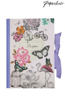 Paperchase Vintage Flamingo Recipe Journal