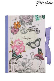 Paperchase Vintage Flamingo Recipe Journal