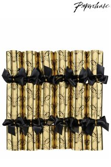 Paperchase Gold Stag Crackers Christmas Crackers - Pack Of 6