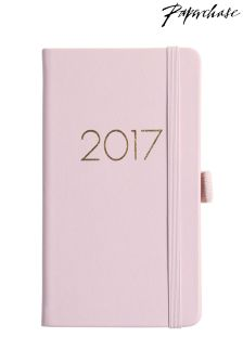 Paperchase Agenzio Slim Pink Hard Cover 2017 Diary
