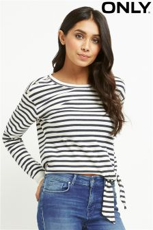 Only Knot Front Stripe Top