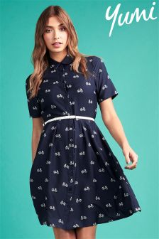 Yumi Belted Shirt Dress
