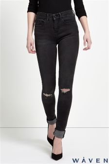 Waven Super Skinny Jean With Rip And Repair Detail On Knees