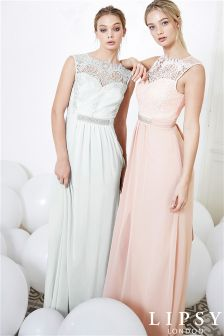 Lipsy Jasmine Jewel Embellished Waist Maxi Dress