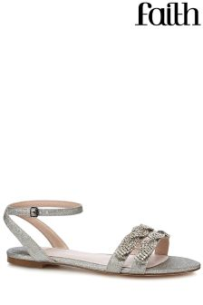 Faith Swirl Trim Flat Sandals