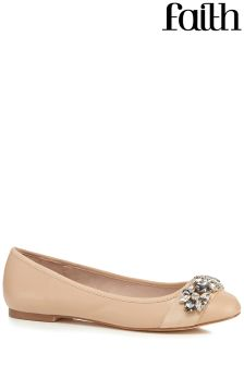 Faith Round Toe Flat Pumps