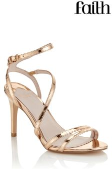 Faith Mid Height Strappy Sandals